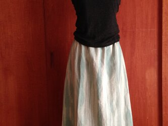 リネン マキシスカート~赤を裾に~▫︎受注制作の画像