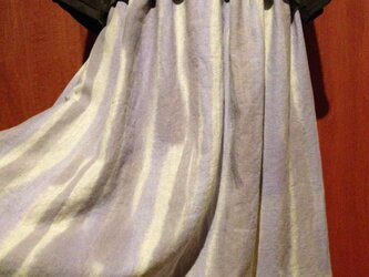 手描き染め 日本製リネンスカート▫︎鶸色を裾に。。。▫︎受注制作▫︎の画像