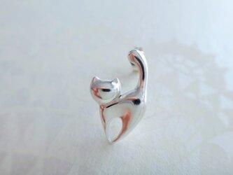 [silver]ゴキゲンネコのピアス(片耳)の画像