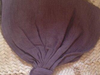 ベンガラ染めバブーシュカ 紫土の画像