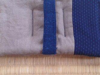 なべ敷き 藍染➕柿渋の画像