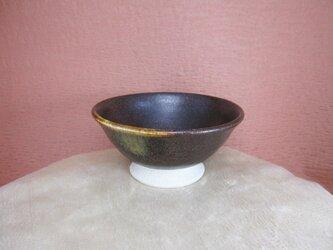 陶器ご飯茶碗(小)こげ茶+うす茶の画像