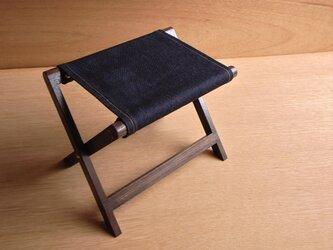 アウトドアスツール003焦茶&デニムの画像