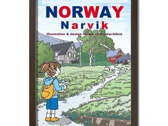 ポスターA3サイズ 最北の坂道/(ノルウェー・ナルヴィク)の画像