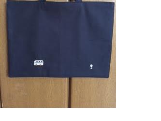 1点限定★クロスステッチ刺繍:バス★レッスンバッグの画像
