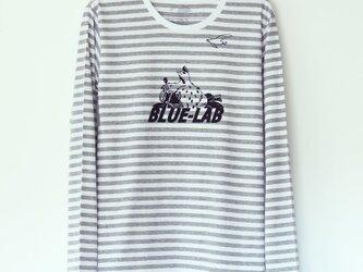 トリくんTシャツ長袖 stripe x blackの画像