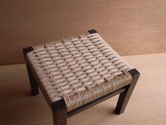座編みスツール-003焦茶の画像