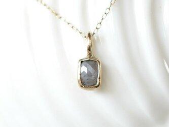 ローズカットダイヤモンド・10kゴールドペンダント グレーの画像