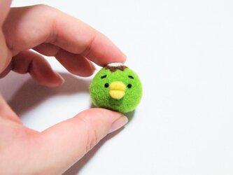 まゆかっぱ 携帯クリーナーストラップ ※受注製作 羊毛フェルト(アクレーヌ製)の画像
