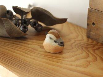 【暦鳥・秋】モズ (受注制作)国産ヒノキの木箱入りの画像