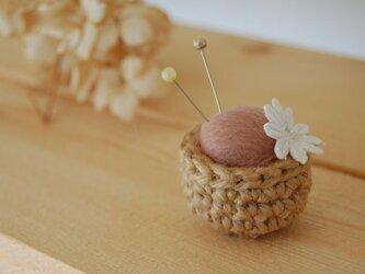 mini mini ピンクッション ボルドーの画像