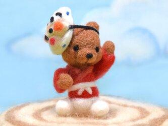 ひょっとこフェスティバルで陽気に踊るコグマさんの画像