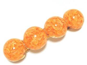ドライフラワーたっぷり♪バレッタ(オレンジ)の画像