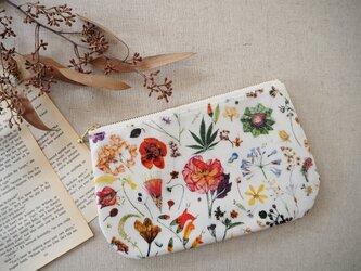 リバティ ラミネートラウンドポーチ 「Floral Eve」の画像