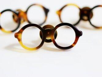 メガネラぺルピン(丸メガネ、Sサイズ、ブラウン2、長針)の画像