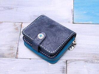 【切線派】牛革手作り小型収納財布025006の画像