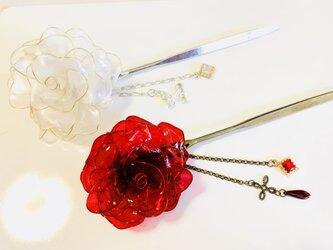 薔薇かんざし・ヘアクリップの画像