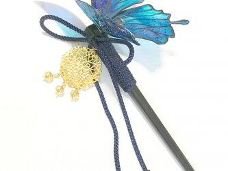 夢幻の蝶の和かんざしの画像