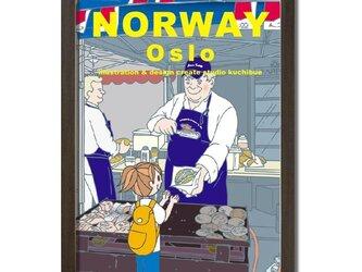 ポスターA3サイズ サーモンバーガー(ノルウェー・オスロ)の画像