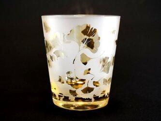 銀杏のグラスの画像