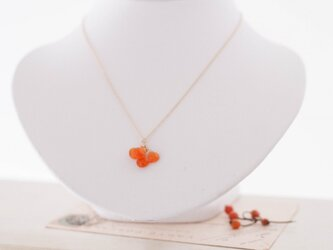 【14kgf】-Mellow-秋の果実ネックレスOrange カーネリアンの画像