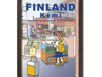 ポスターA3サイズ ケミ駅の売店にて(フィンランド・ケミ)の画像