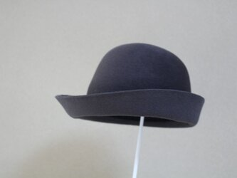 折りたためる帽子59cm[rabbit fur]クールグレーの画像