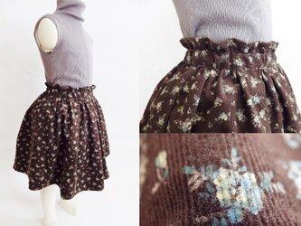 ペーパーバックウエストギャザースカート コドモ110サイズ【仕立て上り】の画像