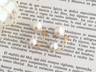 秋冬新作 twin cotton pearl earring ノンホールピアスイヤリング/ピアスの画像
