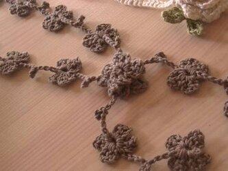 手編み*オーガニックコットン糸のラリエット♪の画像