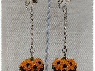 NO822◇ハロウィン かぼちゃ イヤリングの画像