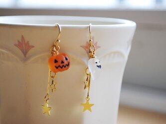 ハロウィンピアス(かぼちゃ&おばけ)の画像