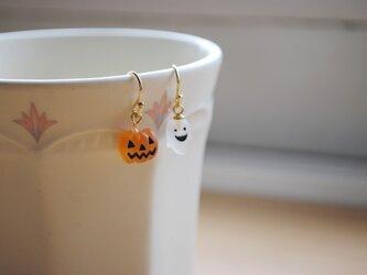 ハロウィンピアス(かぼちゃ&おばけ)シンプルタイプの画像
