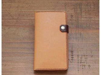 【受注製作】 iphone7plus用 手帳型レザーケースの画像