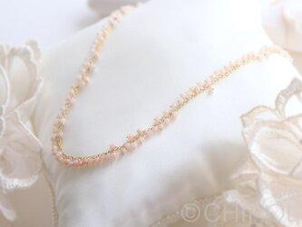 ピンクオパール*フリンジ ネックレス/14kgfの画像