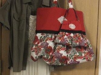 SOLD  元気な赤い親子バッグの画像