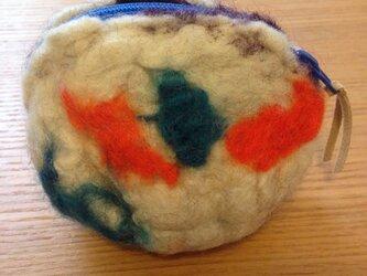 羊毛ポーチ Cの画像