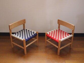 無垢の栗材でつくった子供椅子(キッズチェア)の画像