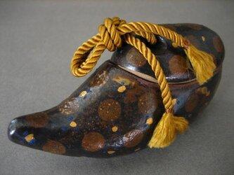 トリ・陶の小箱「あ・うん-A」 陶芸家オリジナル陶器(3)の画像
