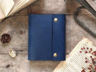 藍染革[migaki] A6サイズノート手帳の画像