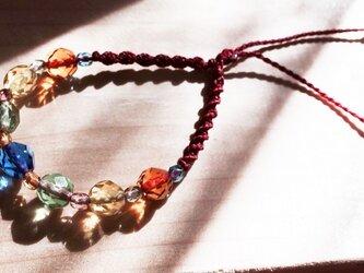 フランス製ガラスビーズ◇マクラメブレスレットの画像