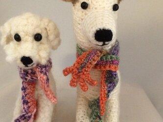オーダーメイドで編みぐるみ(犬)の画像
