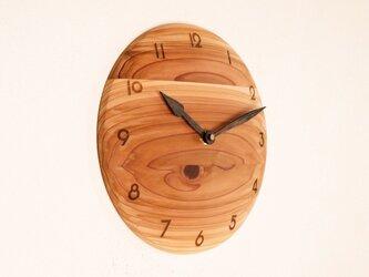 掛け時計 丸 杉材6の画像
