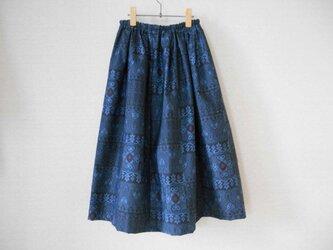 受注製作★藍大島リメイクスカートの画像