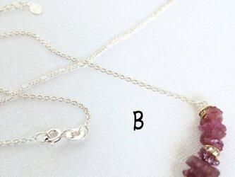 ピンクトルマリンのネックレスの画像