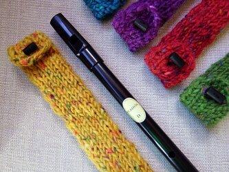 羊毛100% ティンホイッスルケース / Yellow(イエロー)の画像