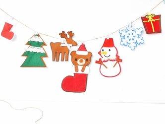 ★大人気ブーツinクマちゃんクリスマスガーランドの画像