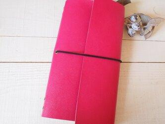 本革 A5変形手帳カバー 直線切り口 モレ・トラベラーズサイズの画像
