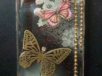 夜と蝶【和風柄 iPhone5対応ケース】の画像
