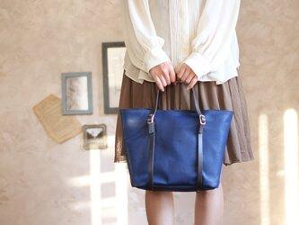 藍染革[migaki]  ハンドバッグの画像